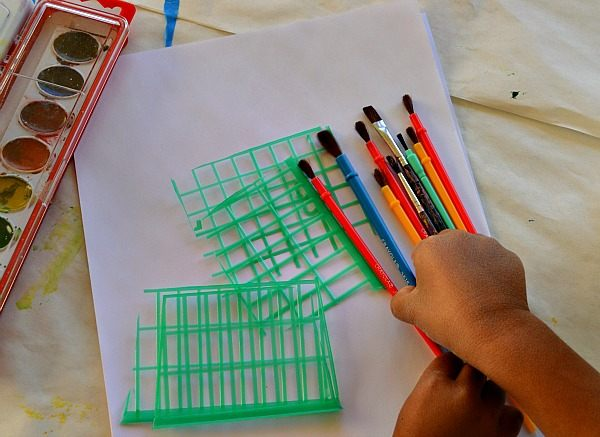 art activity for kids with berry basket