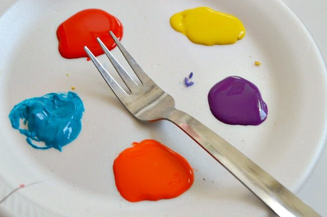 fork painting art projects