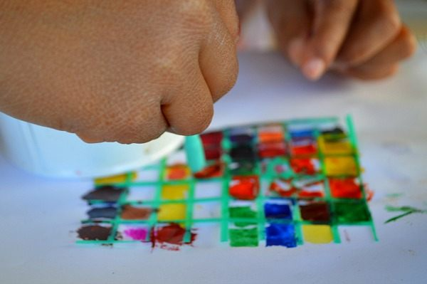 painting with berry askets art projects