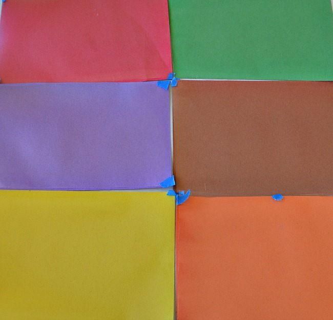 scavenger hunts preparation colored paper