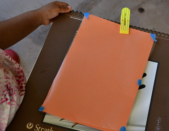 scavenger hunts for kids prepare with color paper and contact paper