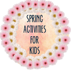 spring activities button
