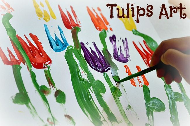 Spring Art Tulip Painting Fun Littles