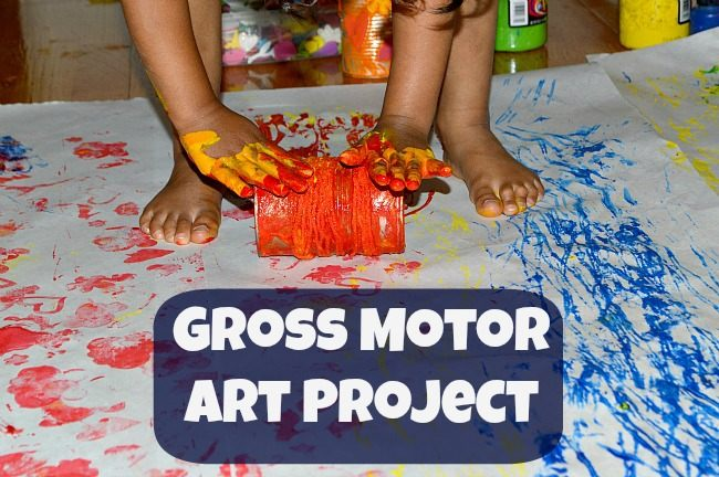 Gross Motor Art Activity Fun Littles