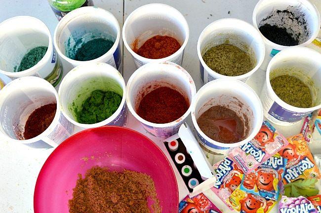all colored sand sensory