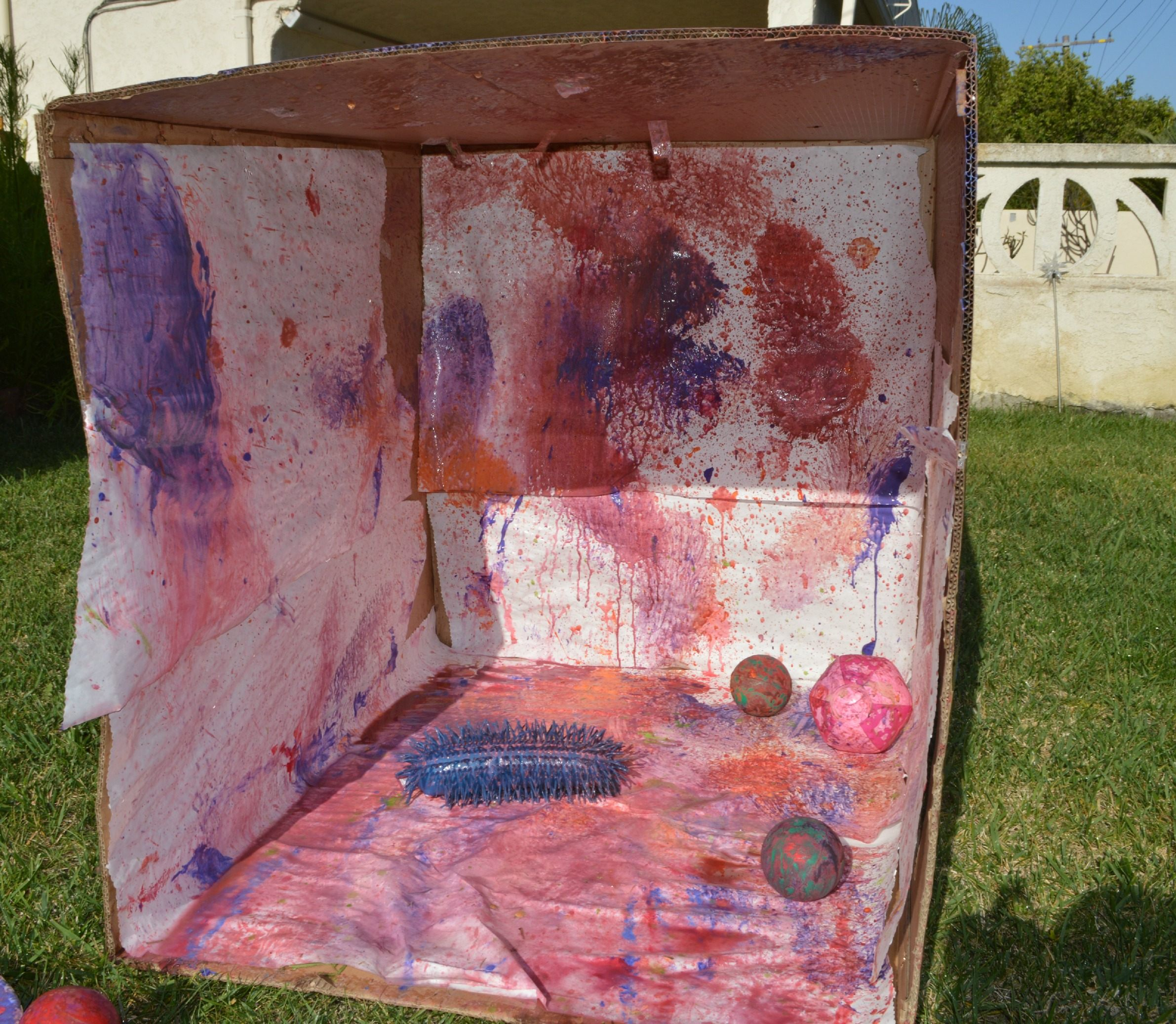 Art Activity Throw Ball Painting Fun Littles
