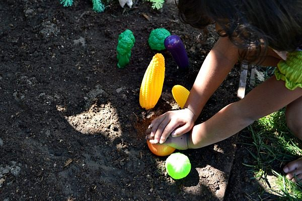 planting veggies in small world play