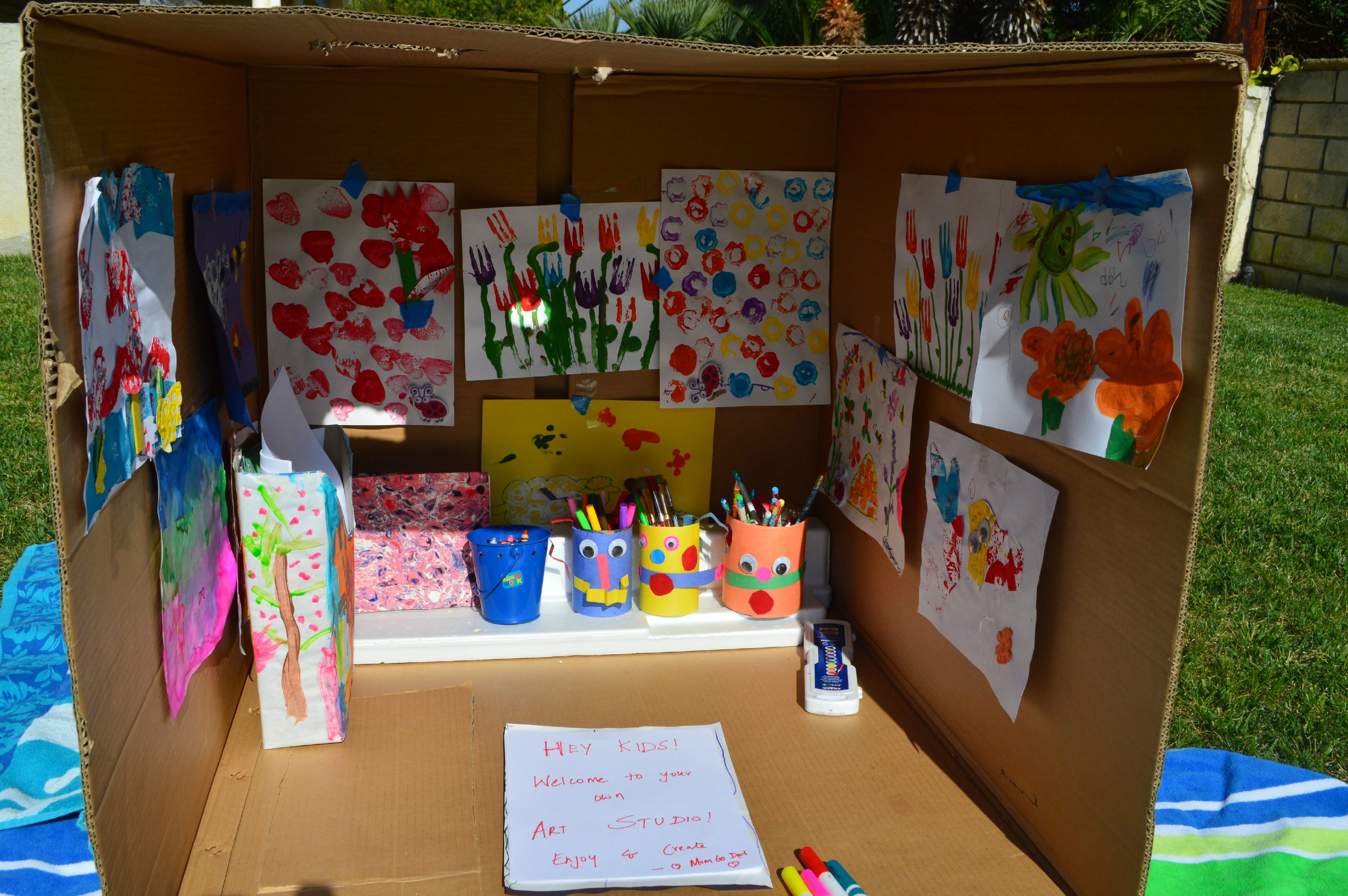 Recycled Crafts Art Studio In A Box Fun Littles