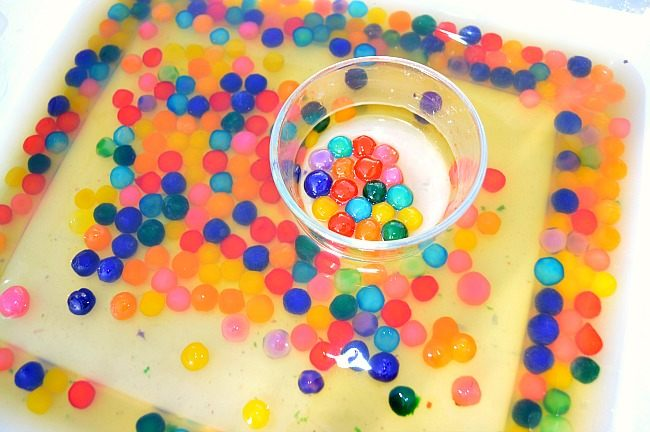 colorful tapiocapearls in water