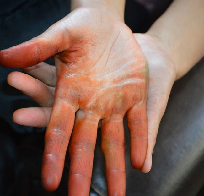 sensory activtes koolaid stain