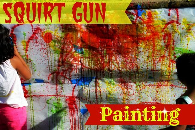 art activities with squirt gun