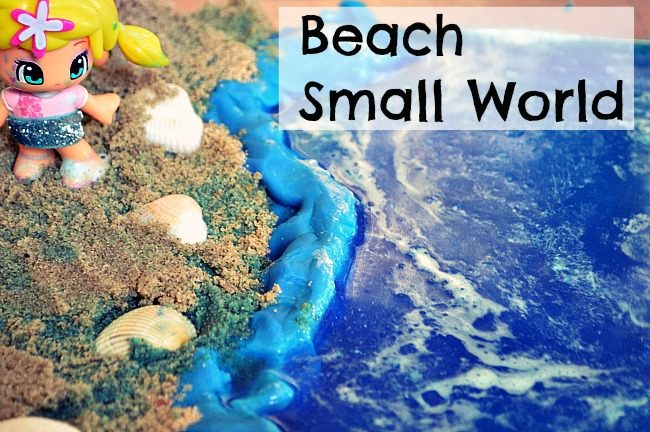 small world sensory activity beach