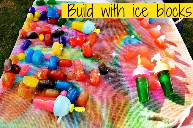 summer ice fun with color