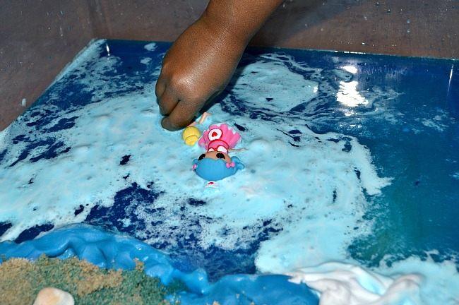 swimming beach sensory activity