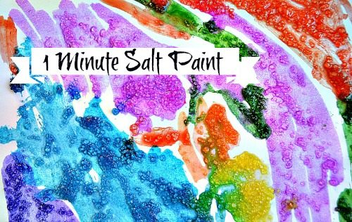 Art Activities Epsom Salt Painting Fun Littles