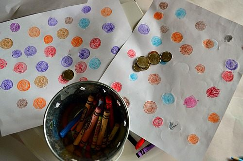 Art and Math Activities : Coin Rubbings | Fun Littles