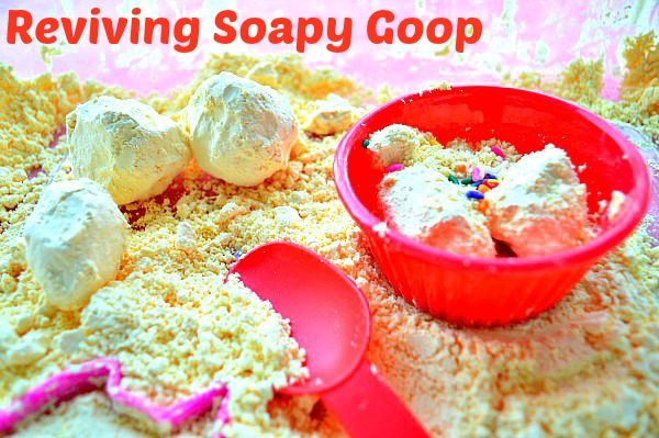 sensory activities dry goop