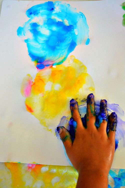 hand prints with paint