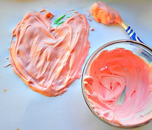heart puff paint