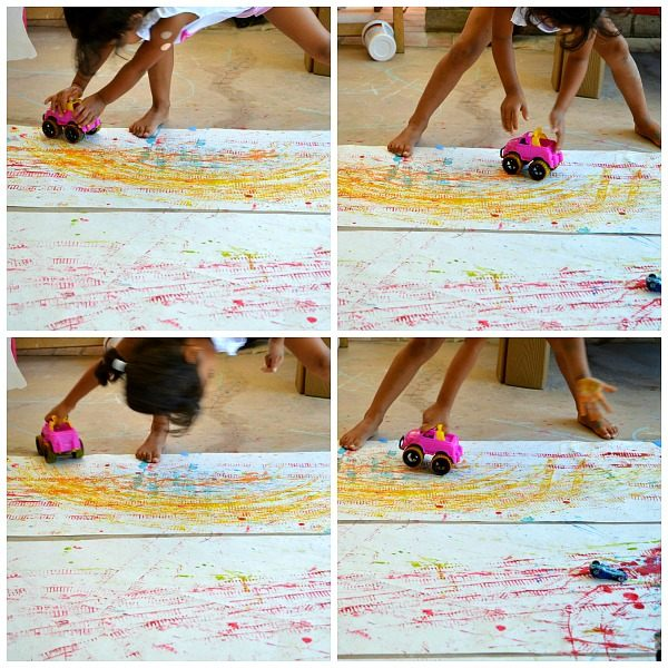 kid enjoying painting activity