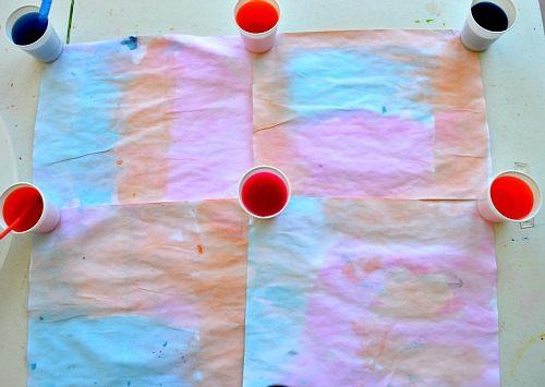 crepe paper paint