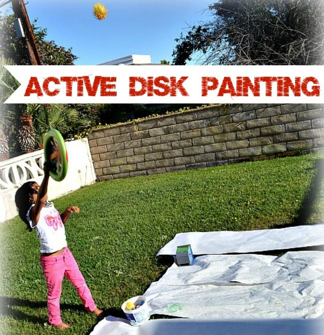 disk painting - active art