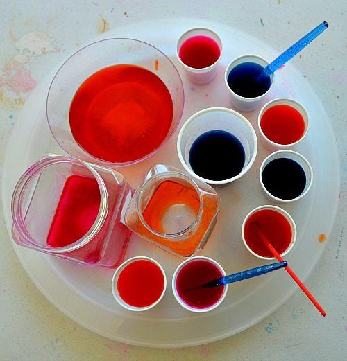 liquid crepe paper colors
