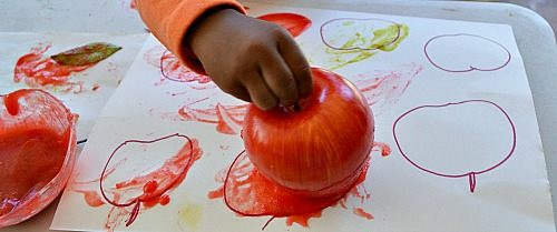 printing with apples
