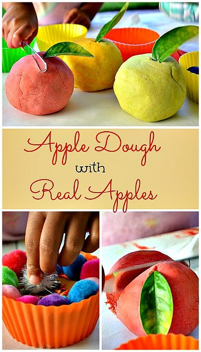 Apple dough with real apples - blog me mom