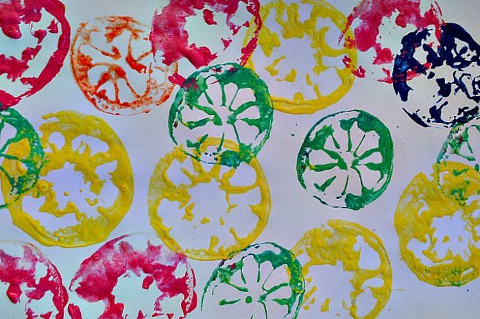art activities citru stamping