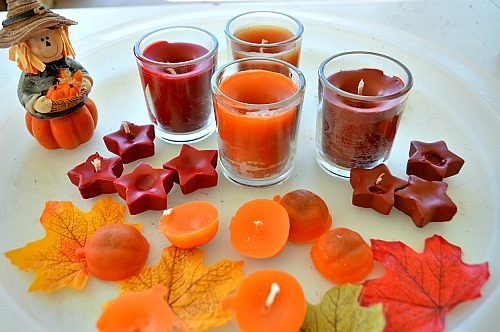 fall activities for candles