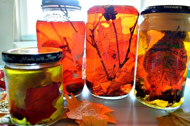 Fall Activities Fall Sensory Jars Fun Littles