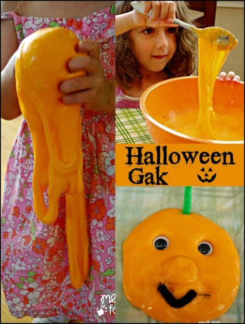 halloween sensory activities with gak