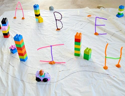 letters activities set up