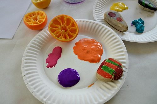 materials needed for art activities with fruits