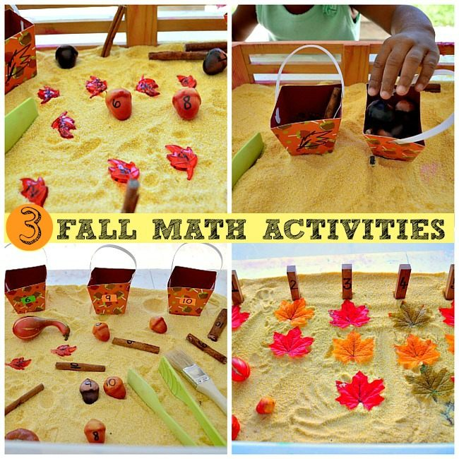 math games for kids fall themed