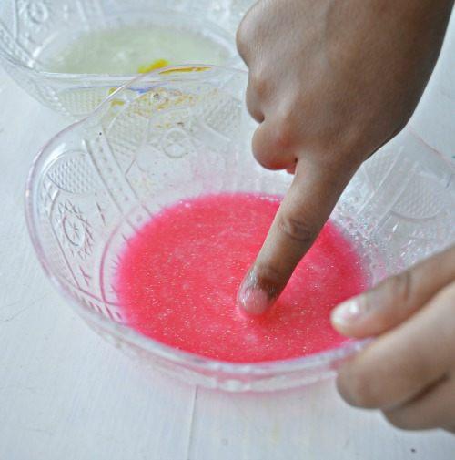 mxing colored glue