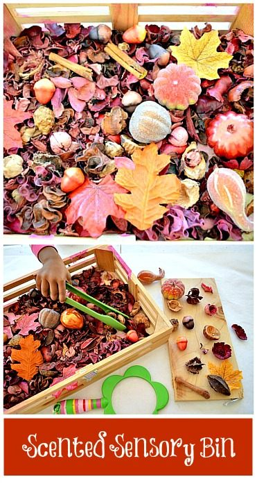 scented sensory bin for kids
