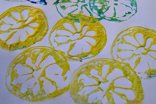 yellow lemon stamping