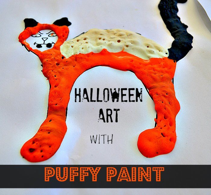 Halloween art projects with puffy paint