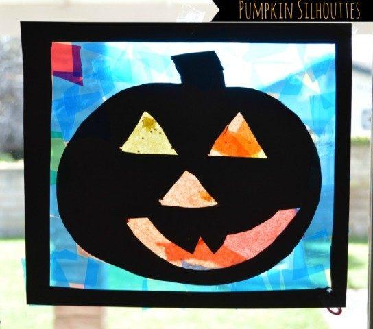Pumpkin crafts for kids silhouttes