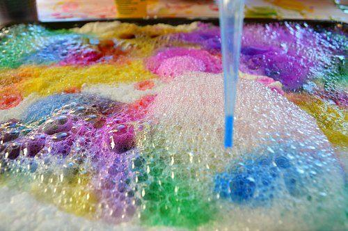 coloring lemon juice bubbles
