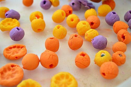 dried clay beads