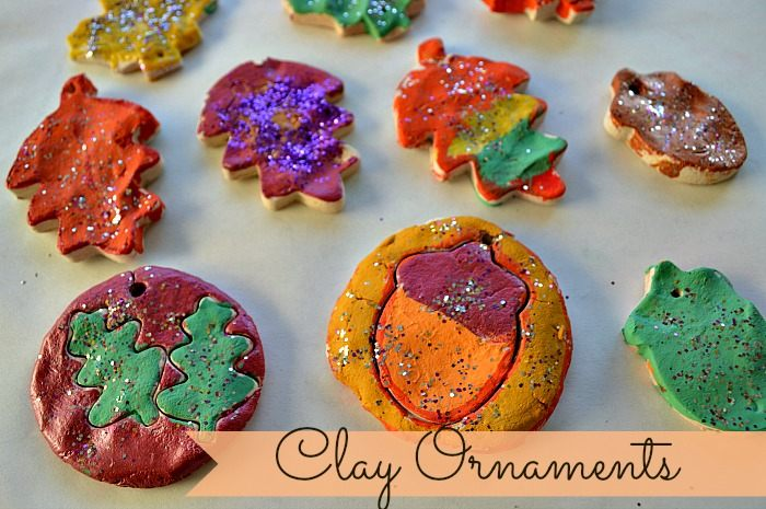fall crafts with clay ornaments