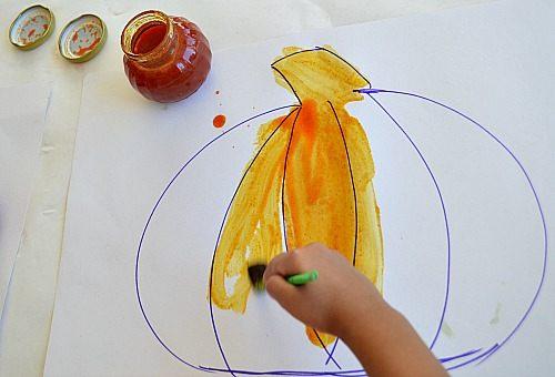 homemade pumpkin paint