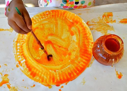 painting with homemade paints
