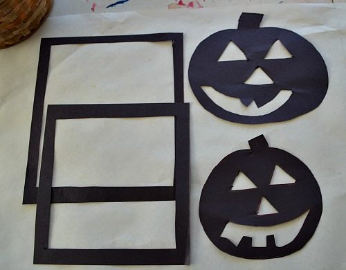 pumpkin cut outs for crafts for kids