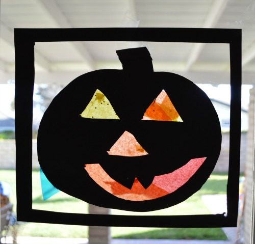 pumpkin silhouttes for kids crafts