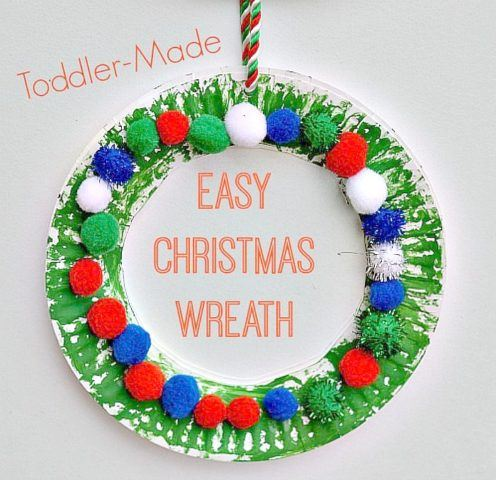 Christmas Crafts For Kids Easy Christmas Wreath For Toddlers Fun Littles