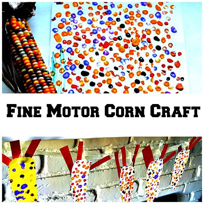 Thanksgiving crafts for kids with corn art